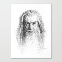 gandalf Canvas Prints featuring Gandalf by Creadoorm