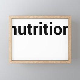 nutrition Framed Mini Art Print