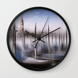 Digital-Art VENICE Grand Canal and St Mark's Campanile Wall Clock