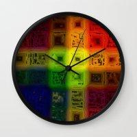 matrix Wall Clocks featuring Abdon Matrix by RingWaveArt
