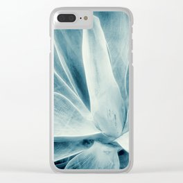 Century Plant Blue Gray Clear iPhone Case