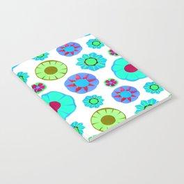 Flower Pattern-Teal Notebook