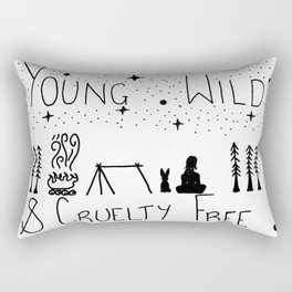 Young wild and cruelty free Rectangular Pillow