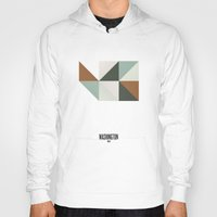 washington Hoodies featuring Geometric Washington by INDUR