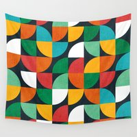 pie Wall Tapestries featuring Pie in the sky by Picomodi