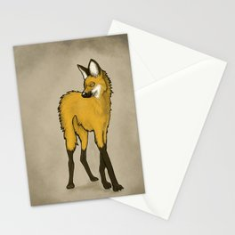 Chrysocyon In Mono. Stationery Cards