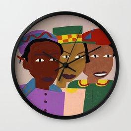 Three Friends by William H. Johnson Wall Clock