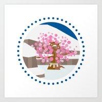 okami Art Prints featuring Okami - Kamui by jindesign