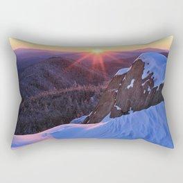 Alpenglow on Ampersand, Adirondacks Rectangular Pillow
