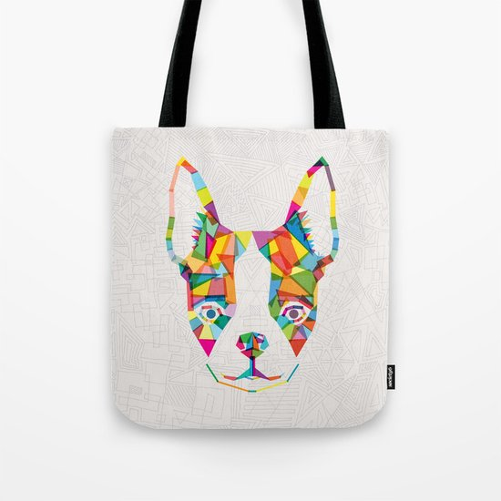 Rainbow Bulldog Tote Bag