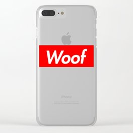 WOOF Clear iPhone Case