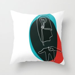 killed by disconnection Throw Pillow
