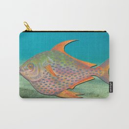 Vintage sketch of a colourful fish Carry-All Pouch