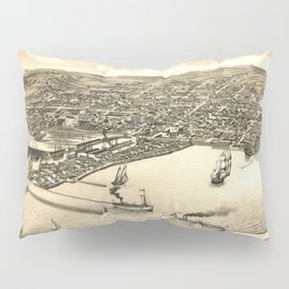 Vintage Pictorial Map of Duluth MN (1883) Pillow Sham