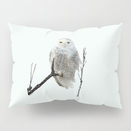 Snowy in the Wind (Snowy Owl 2) Pillow Sham