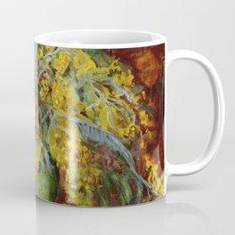 Momisa, Amber Gold-Yellow Flowers in Vase still life Parisian portrait painting Coffee Mug