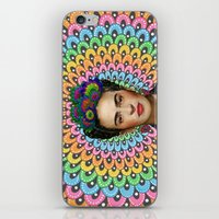 frida kahlo iPhone & iPod Skins featuring Frida Kahlo by Luna Portnoi