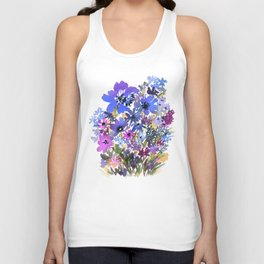 Heavenly Blues and Purples Unisex Tank Top
