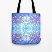 frozen Tote Bags featuring Frozen Stars Periwinkle Lavender Blue by 2sweet4words Designs