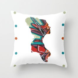 Graffiti Ballerina Throw Pillow