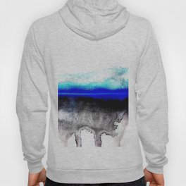 Abstract sunset blue Hoody