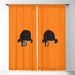A Clockwork silhouette Blackout Curtain