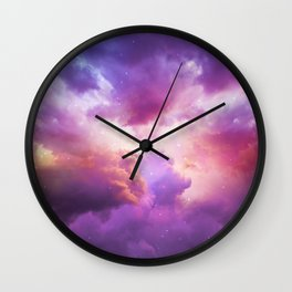 The Skies Are Painted Wall Clock