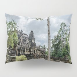Bayon Temple at Angkor Thom, Siem Reap, Cambodia Pillow Sham