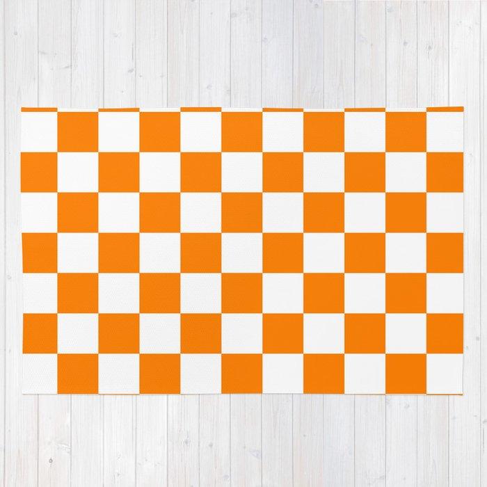 Checker (Orange/White) Rug