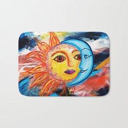 Sun and Moon United Bath Mat