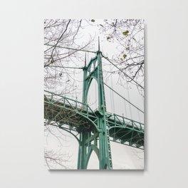 St. Johns Bridge at Cathedral Park Portland Metal Print