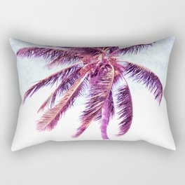 Palm Tree Violet Illustration Rectangular Pillow