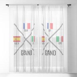 Cycling Grand Tours Sheer Curtain