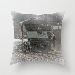 Baldwin Locomotive Works Steam Engine 26 Vintage Train Steamtown Scranton Pennsylvania Throw Pillow