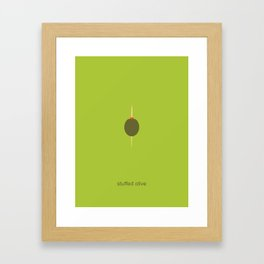 stuffed olive Framed Art Print