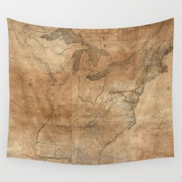 Vintage United States Map (1806) Wall Tapestry