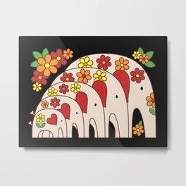 Matrioshka Elephants Metal Print