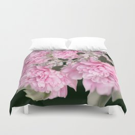 Pink Bouquet On A Black Background  #society6 #buyart Duvet Cover
