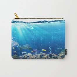 Magnificent Underwater Life Various Sea Animals Carry-All Pouch