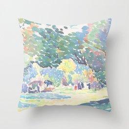 Landscape by Henri-Edmond Cross 1904, French Throw Pillow