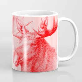 Moose red Coffee Mug