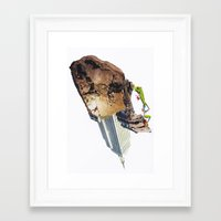 climbing Framed Art Prints featuring Climbing by Lerson