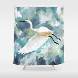 Florida Egret Shower Curtain