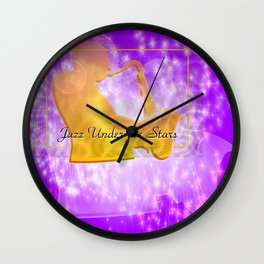 Jazz Night Under the Stars Wall Clock