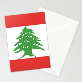 Lebanon flag emblem Stationery Cards