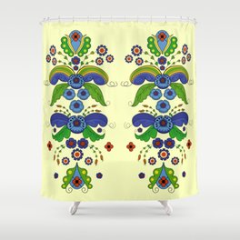 Folklore Flower tapestry Shower Curtain