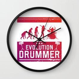 Evolution Drummer | Drums Musician Wall Clock