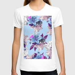 BLUE LILY WHITE ROSES 2020 T-shirt