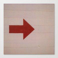 Red Arrow Canvas Print