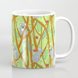 Koala bear light green pattern Coffee Mug